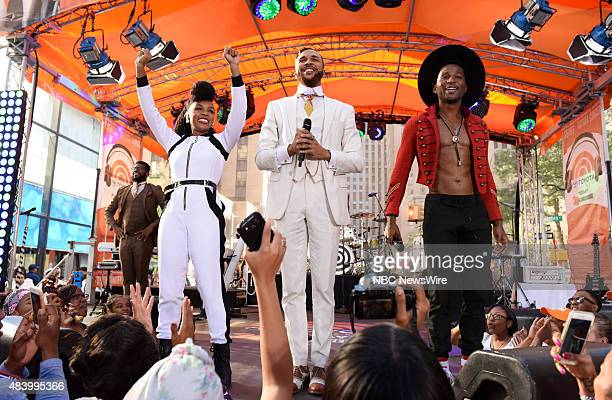 Janelle Monae Jidenna appear on NBC News' 'Today' show