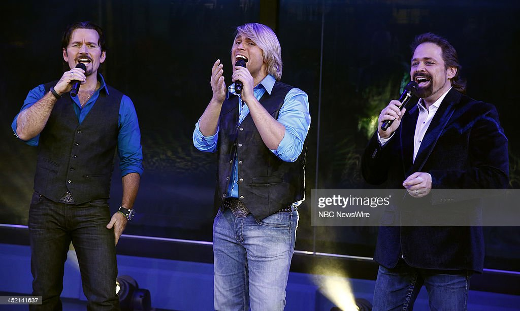 JC Fisher, Marcus Collins and John Hagen of the music group the Texas Tenors appear on NBC News' 'Today' show --
