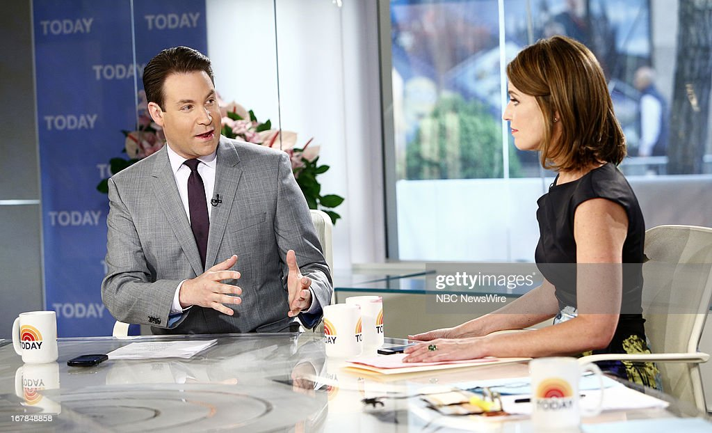 Jeff Rossen and <a gi-track='captionPersonalityLinkClicked' href=/galleries/search?phrase=Savannah+Guthrie&family=editorial&specificpeople=653313 ng-click='$event.stopPropagation()'>Savannah Guthrie</a> appear on NBC News' 'Today' show --