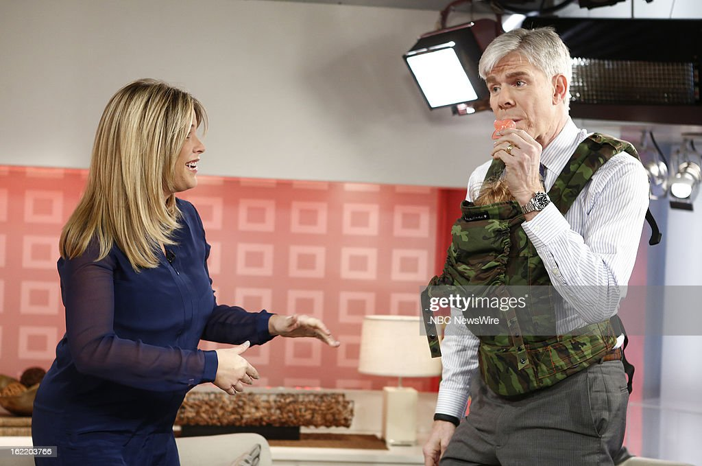 Jenna Bush Hager and David Gregory appear on NBC News' 'Today' show --