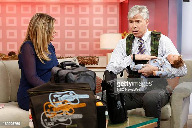Jenna Bush Hager and David Gregory appear on NBC News' 'Today' show