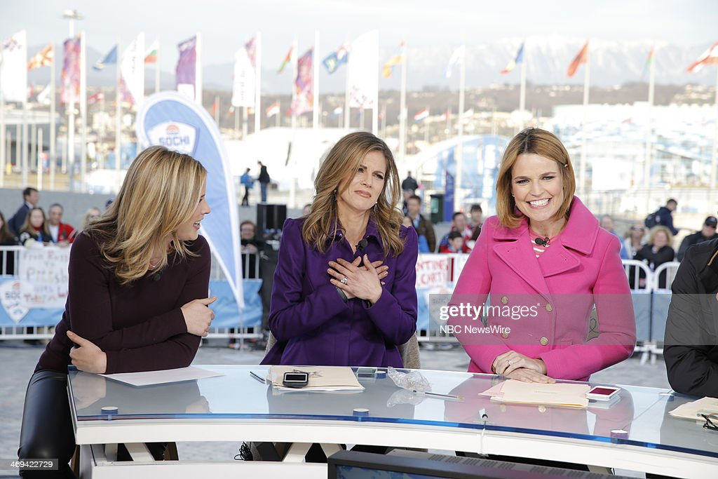 Jenna Bush, <a gi-track='captionPersonalityLinkClicked' href=/galleries/search?phrase=Natalie+Morales+-+News+Anchor&family=editorial&specificpeople=710956 ng-click='$event.stopPropagation()'>Natalie Morales</a>, <a gi-track='captionPersonalityLinkClicked' href=/galleries/search?phrase=Savannah+Guthrie&family=editorial&specificpeople=653313 ng-click='$event.stopPropagation()'>Savannah Guthrie</a> from the 2014 Olympics in Socci --