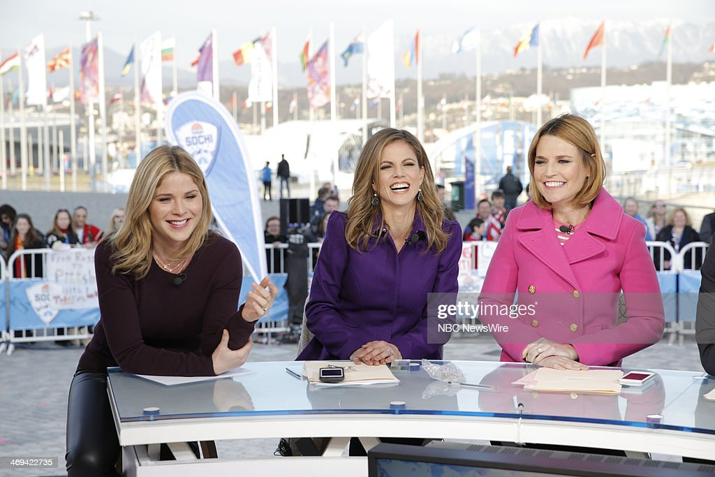 Jenna Bush, Natalie Morales, Savannah Guthrie from the 2014 Olympics in Socci --