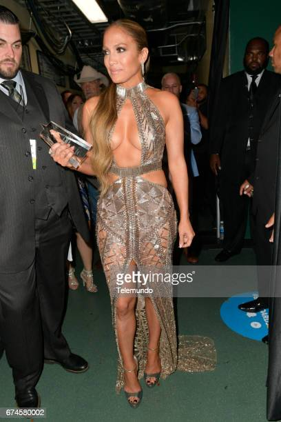 Jennifer Lopez backstage at the Watsco Center in the University of Miami Coral Gables Florida on April 27 2017