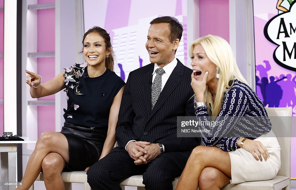 Jennifer Lopez Louis Licari and Jill Martin appear on NBC News' 'Today' show