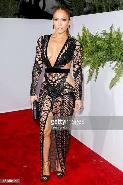 Jennifer Lopez on the Red Carpet at the Watsco Center in the University of Miami Coral Gables Florida on April 27 2017