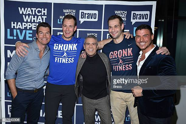 Jerry O'Connell Andy Cohen and Jax Taylor with Gronkowski brothers