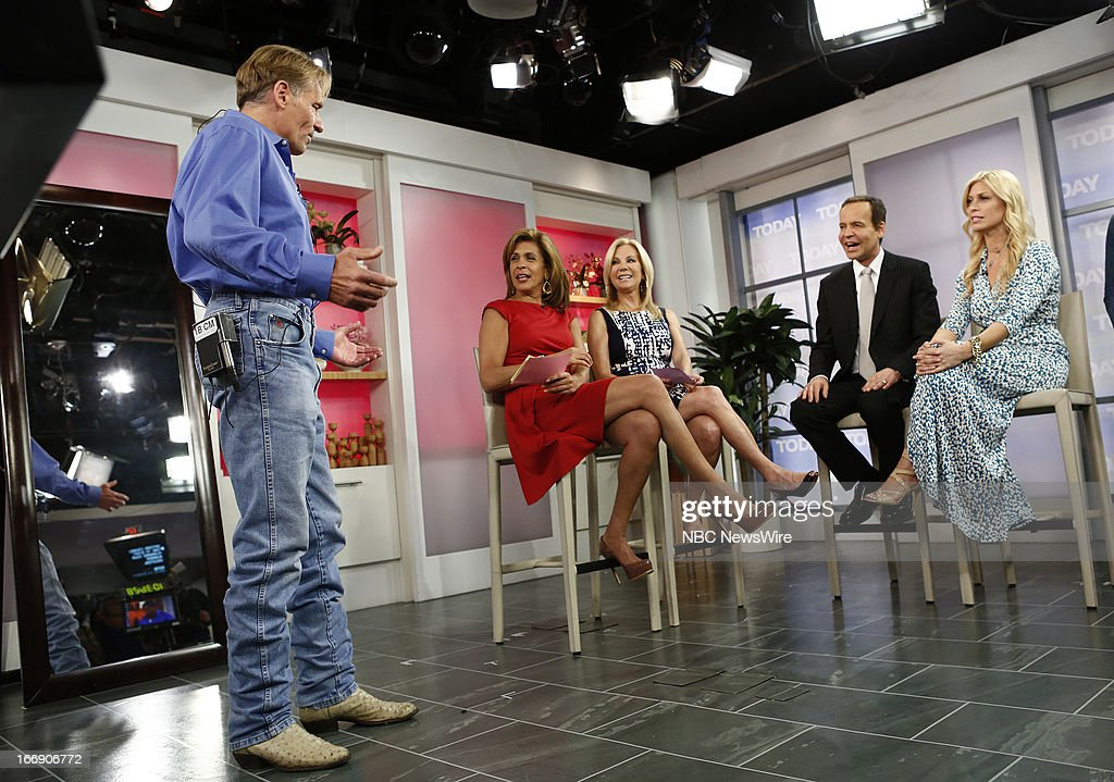 Jimmy Mott, Hoda Kotb, Kathie Lee Gifford, Louis Licari and Jill Martin appear on NBC News' 'Today' show --