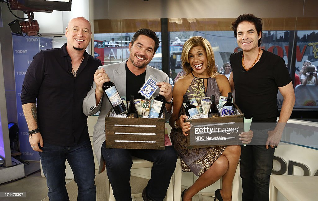 Jimmy Stafford, Dean Cain, Hoda Kotb and Pat Monahan appear on NBC News' 'Today' show --