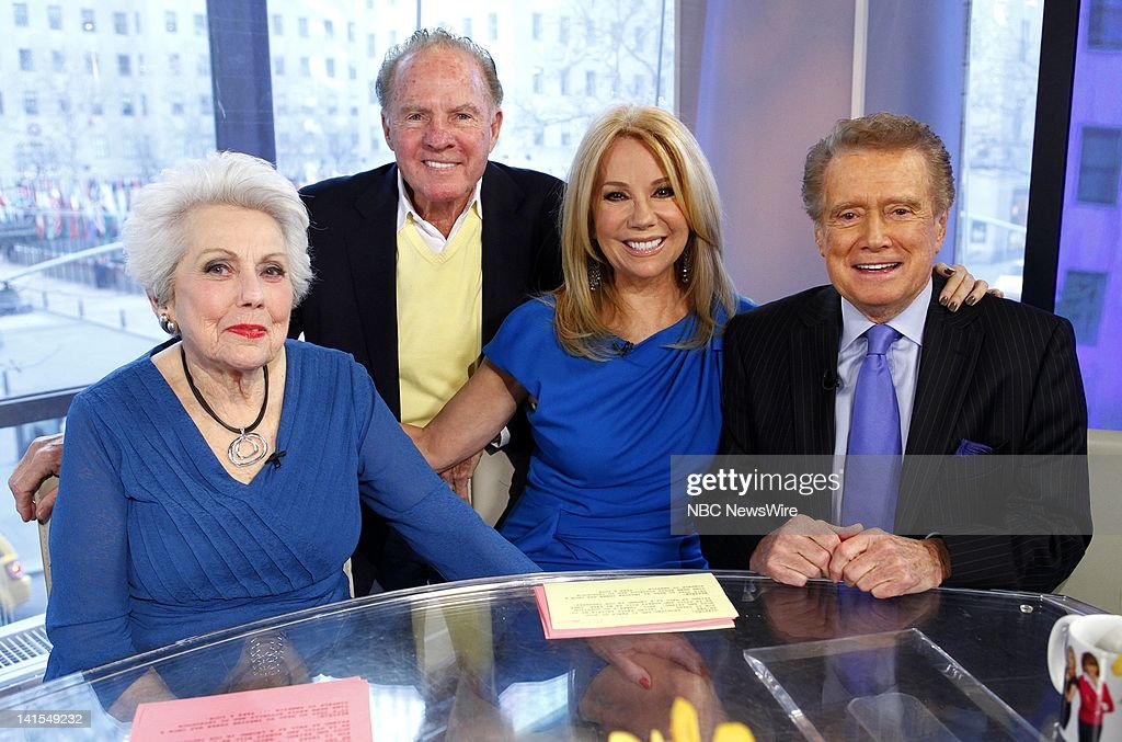 Joan Epstein, Frank Gifford, Kathie Lee Gifford and Regis Philbin appear on NBC News' 'Today' show -- Photo by: Peter Kramer/NBC/NBC NewsWire