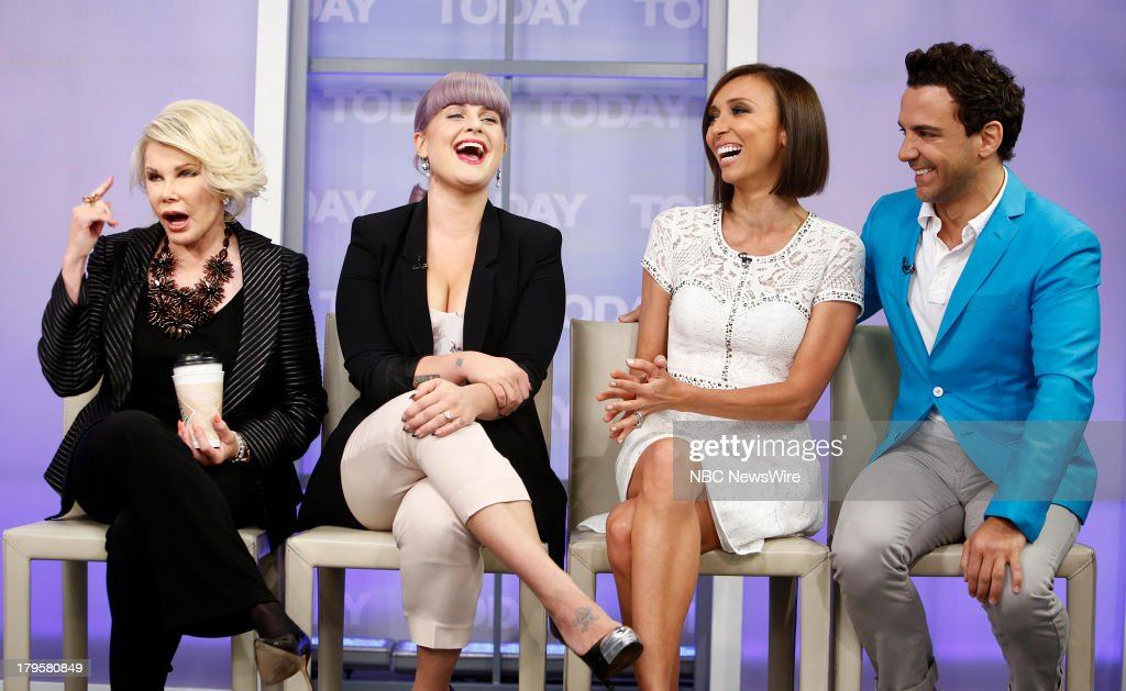 Joan Rivers Kelly Osbourne Giuliana Rancic and George Kotsiopoulos appear on NBC News' 'Today' show