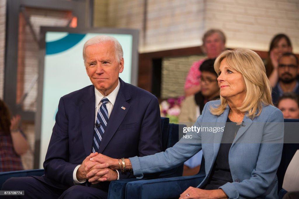 Joe Biden and Jill Biden on Monday, November 13, 2017 --