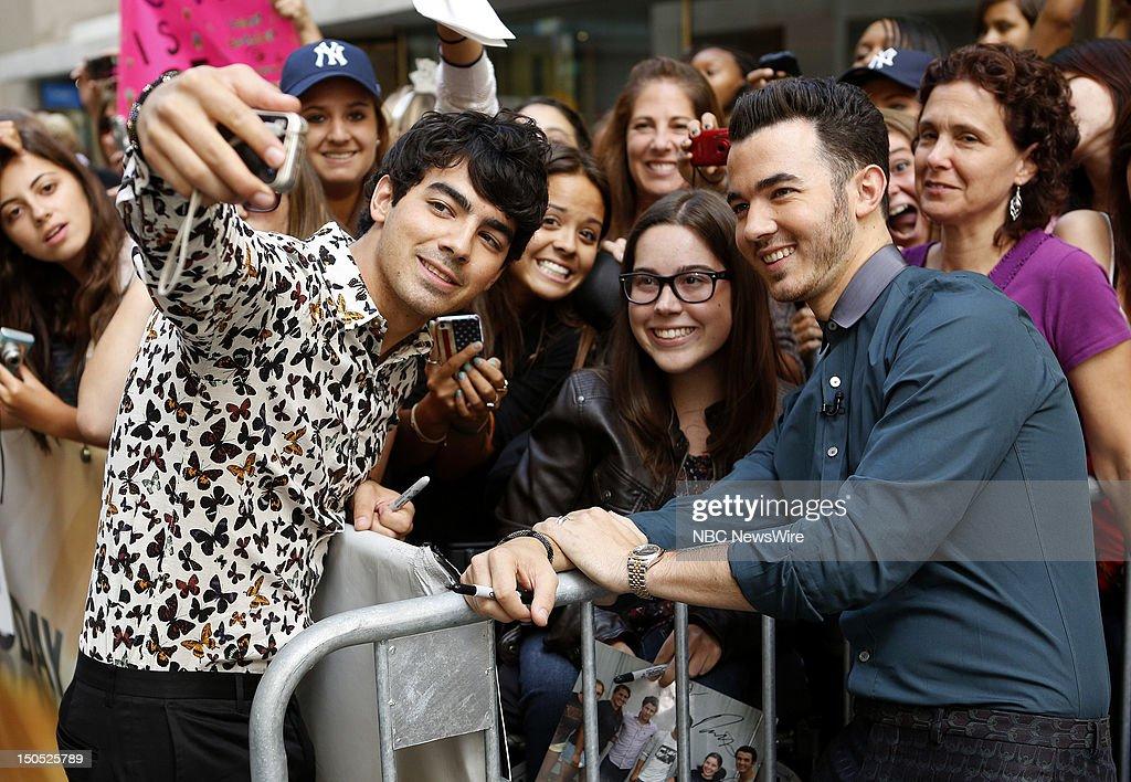 Joe Jonas and Kevin Jonas appear on NBC News' 'Today' show --