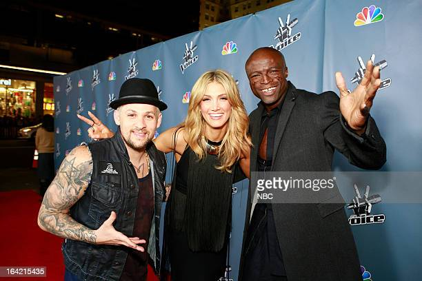 Joel Madden Delta Goodrem Seal attending the Season 4 premiere screening of 'The Voice' at the TCL Chinese Theatre in Hollywood CA Season 4 of 'The...