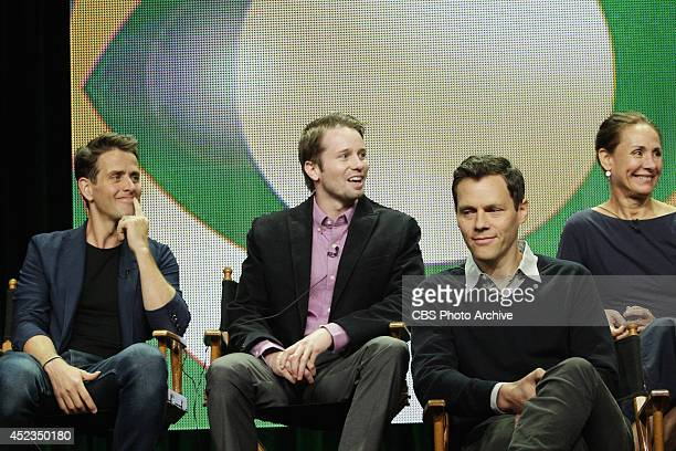Pictured Joey McIntyre Tyler Ritter Will Gluck and Laurie Metcalf during THE McCARTHYS session at TCA Summer Press Tour 2014 held on July 17th in Los...