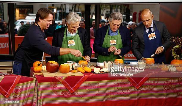 John Besh Michael Douglas Robert De Niro and Matt Lauer appear on NBC News' 'Today' show