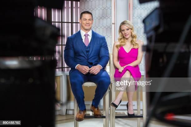 John Cena and Kate McKinnon on Thursday December 7 2017