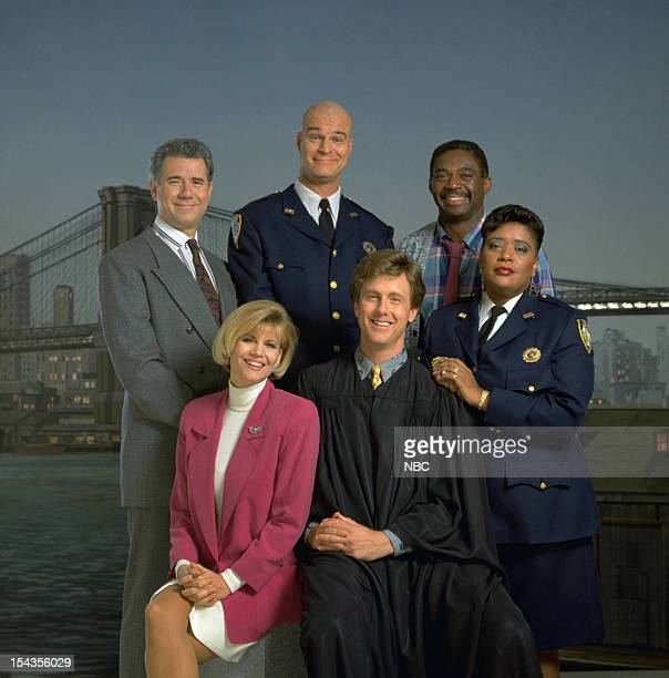 John Larroquette as Dan Fielding Markie Post as Christine Sullivan Richard Moll as Nostradamus 'Bull' Shannon Harry Anderson as Judge Harry T Stone...