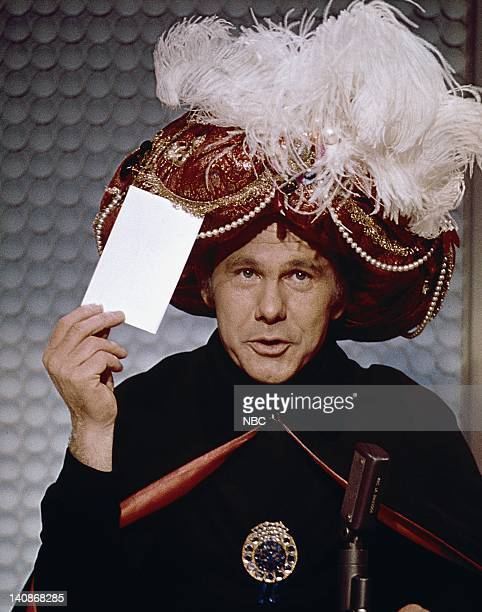 Johnny Carson as Carnac the Magnificent Photo by NBCU Photo Bank
