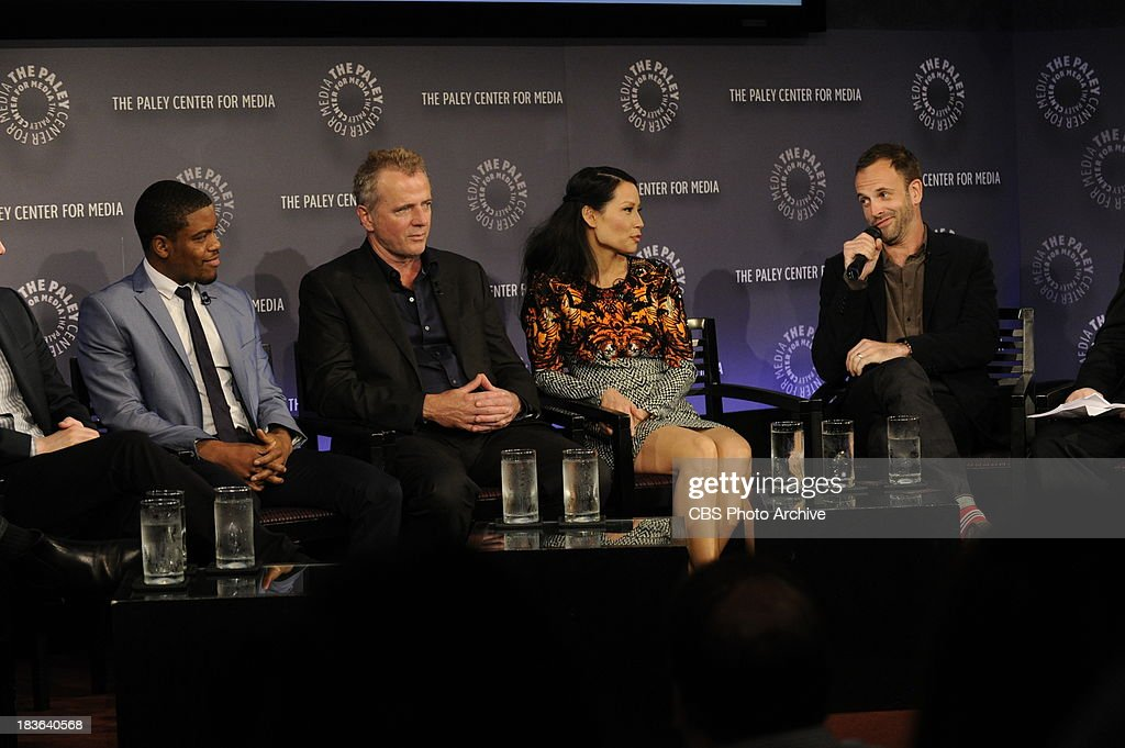 Pictured (L-R) Jon Michael Hill, Aidan Quinn, Lucy Liu and Jonny Lee Miller at the Paley Center for Media in New York City on Saturday, October 5. The event, moderated by Bruce Fretts of TV Guide Magazine, is part of the Paley Center's PaleyFest: Made in NY.