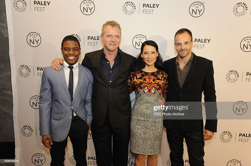 Pictured (L-R) Jon Michael Hill, Aidan Quinn, Lucy Liu and Jonny Lee Miller on the red carpet at the Paley Center for Media in New York City on Saturday, October 5. The event, moderated by Bruce Fretts of TV Guide Magazine, is part of the Paley Center's PaleyFest: Made in NY.