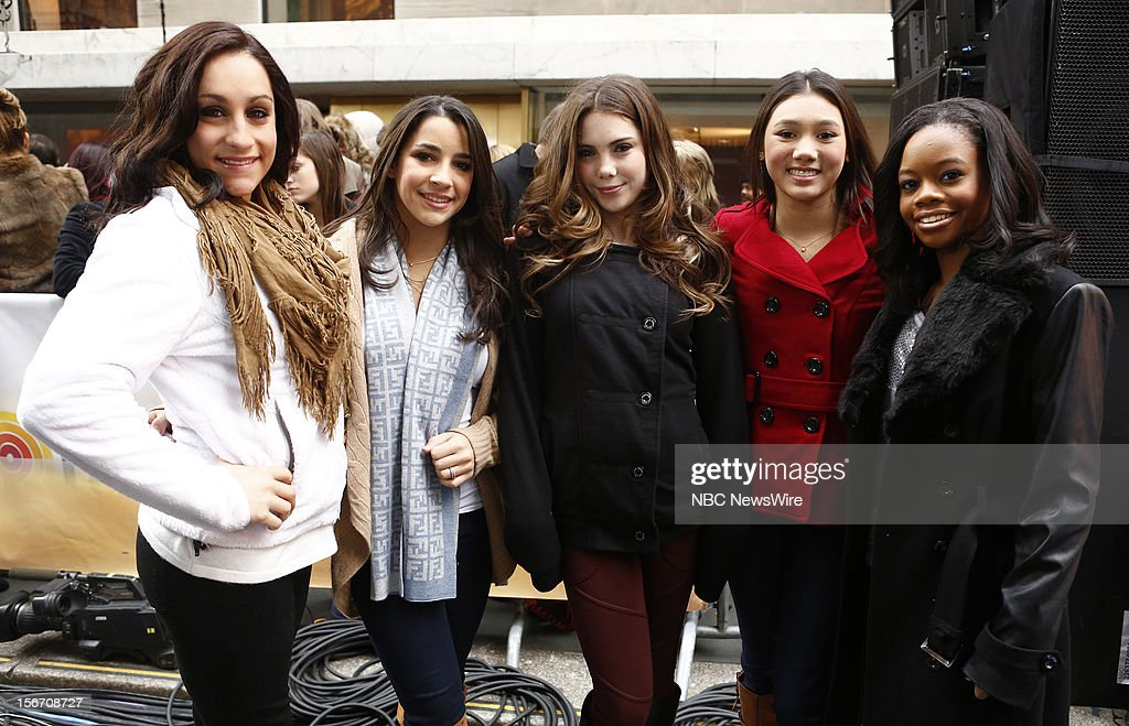 Jordyn Wieber, Aly Raisman, McKayla Maroney, Kyla Ross and Gabby Douglas appear on NBC News' 'Today' show --