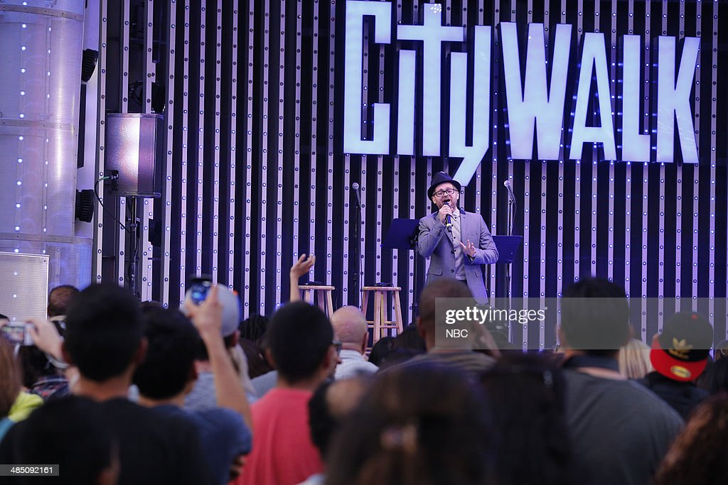 Josh Kaufman performs at the top 12 artists of NBC's 'The Voice' at City Walk --