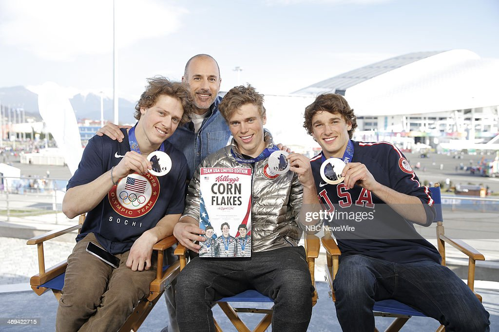 Joss Christensen, Matt Lauer, Gus Kenworthy, Nick Goepper from the 2014 Olympics in Socci --