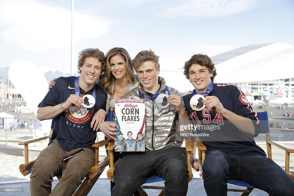 Joss Christenson, Natalie Morales, Gus Kenworthy, Nick Goepper from the 2014 Olympics in Socci --
