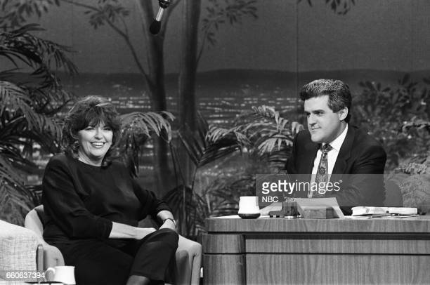 Journalist Linda Ellerbee during an interview with guest host Jay Leno on July 16 1991