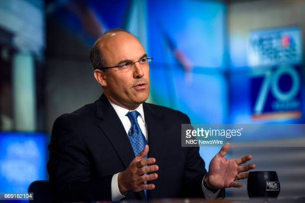 Juan Zarate NBC News Security Analyst appears on 'Meet the Press' in Washington DC Sunday April 16 2017