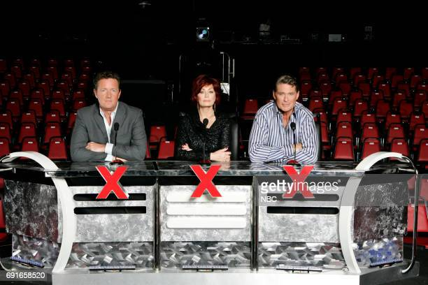 Judges Piers Morgan Sharon Osbourne David Hasselhoff Photo by Trae Patton/NBC/NBCU Photo Bank via Getty Images