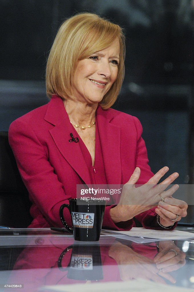 Judy Woodruff, Co-Anchor and Managing Editor, PBS NewsHour, appears on 'Meet the Press' in Washington, D.C., Sunday, Feb. 23, 2014.