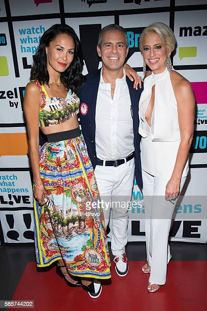 Jules Wainstein Andy Cohen and Dorinda Medley
