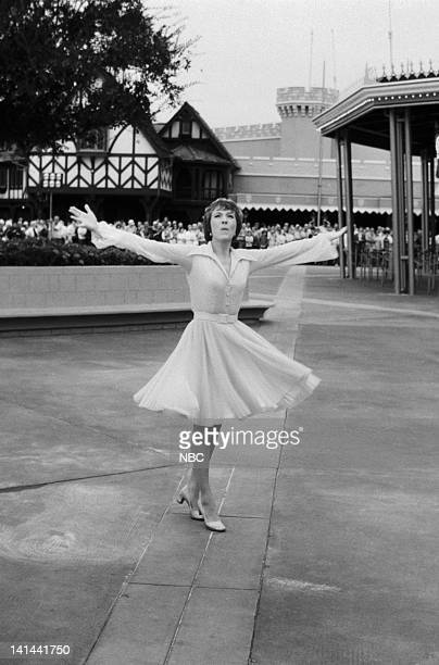 Julie Andrews performs in front of Prince Charming Regal Carrousel in the Magic Kingdom Photo by NBC/NBCU Photo Bank