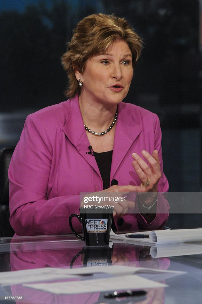 Karen Hughes Fmr Counselor to President George W Bush appears on 'Meet the Press' in Washington DC Sunday April 28 2013