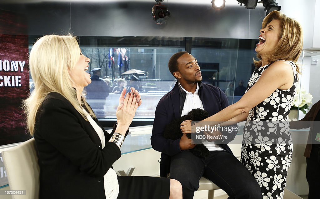 Kathie Lee Gifford, Anthony Mackie and Hoda Kotb appear on NBC News' 'Today' show --