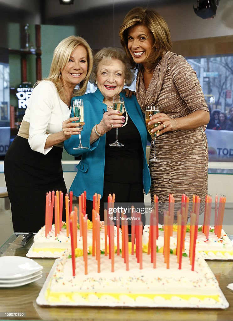 Kathie Lee Gifford, Betty White and Hoda Kotb appear on NBC News' 'Today' show --