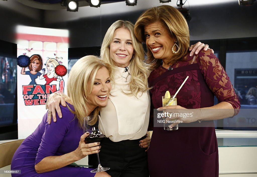Kathie Lee Gifford, Chelsea Handler and Hoda Kotb appear on NBC News' 'Today' show --