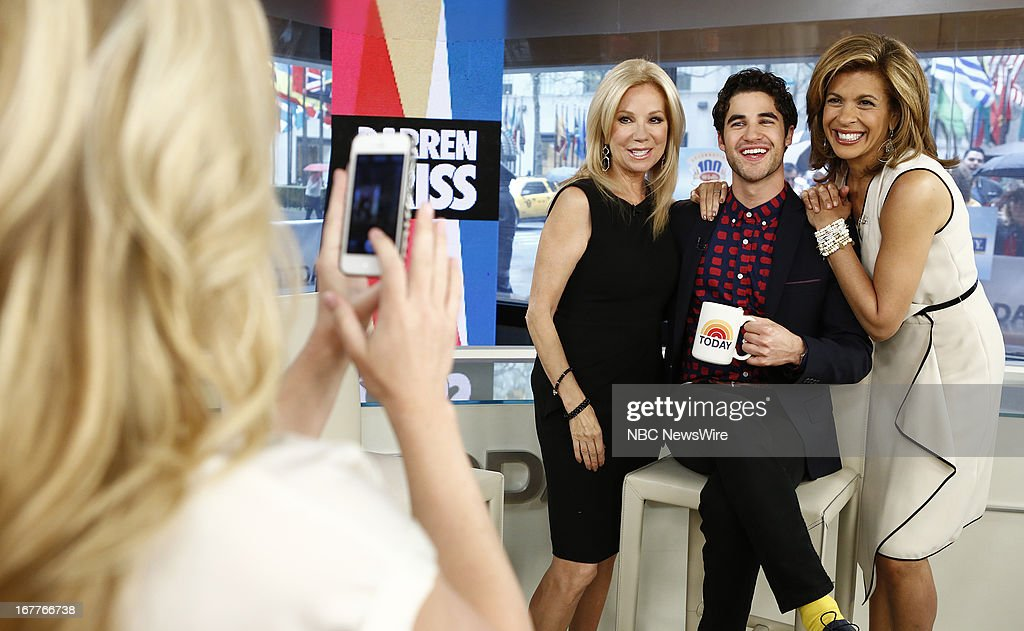Kathie Lee Gifford, Darren Criss and Hoda Kotb appear on NBC News' 'Today' show --