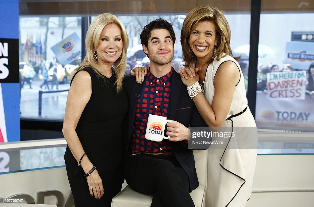 <a gi-track='captionPersonalityLinkClicked' href=/galleries/search?phrase=Kathie+Lee+Gifford&family=editorial&specificpeople=203269 ng-click='$event.stopPropagation()'>Kathie Lee Gifford</a>, <a gi-track='captionPersonalityLinkClicked' href=/galleries/search?phrase=Darren+Criss&family=editorial&specificpeople=7341435 ng-click='$event.stopPropagation()'>Darren Criss</a> and <a gi-track='captionPersonalityLinkClicked' href=/galleries/search?phrase=Hoda+Kotb&family=editorial&specificpeople=2338013 ng-click='$event.stopPropagation()'>Hoda Kotb</a> appear on NBC News' 'Today' show --