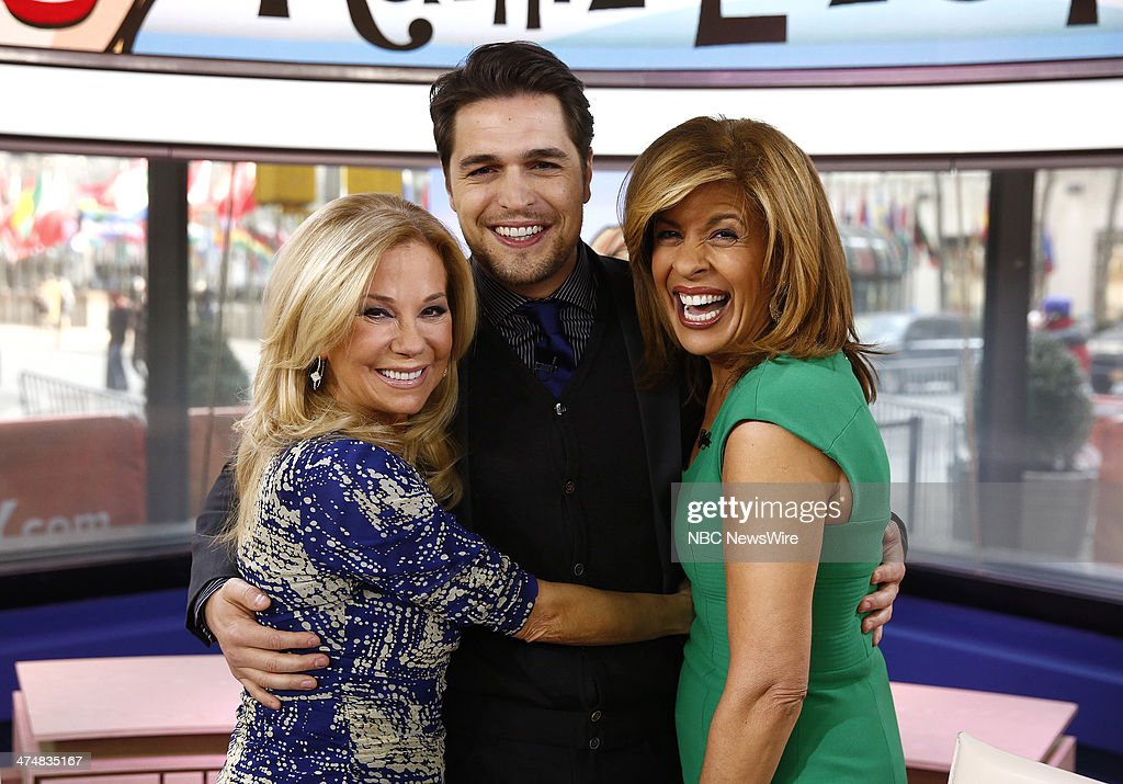 Kathie Lee Gifford Diogo Morgado and Hoda Kotb appear on NBC News' 'Today' show