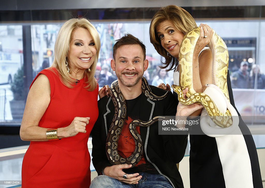 Kathie Lee Gifford, Dominic Monaghan and Hoda Kotb appear on NBC News' 'Today' show --