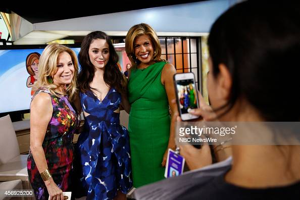 Kathie Lee Gifford Emmy Rossum and Hoda Kotb appear on NBC News' 'Today' show