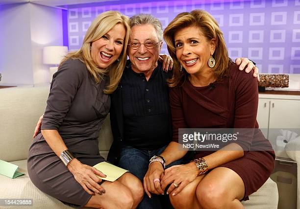 Kathie Lee Gifford Frankie Valli and Hoda Kotb appear on NBC News' 'Today' show