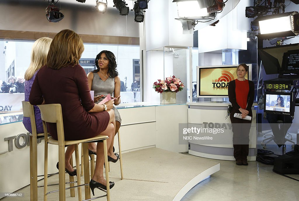 Kathie Lee Gifford, Hoda Kotb, and Toni Braxton appear on NBC News' 'Today' show --