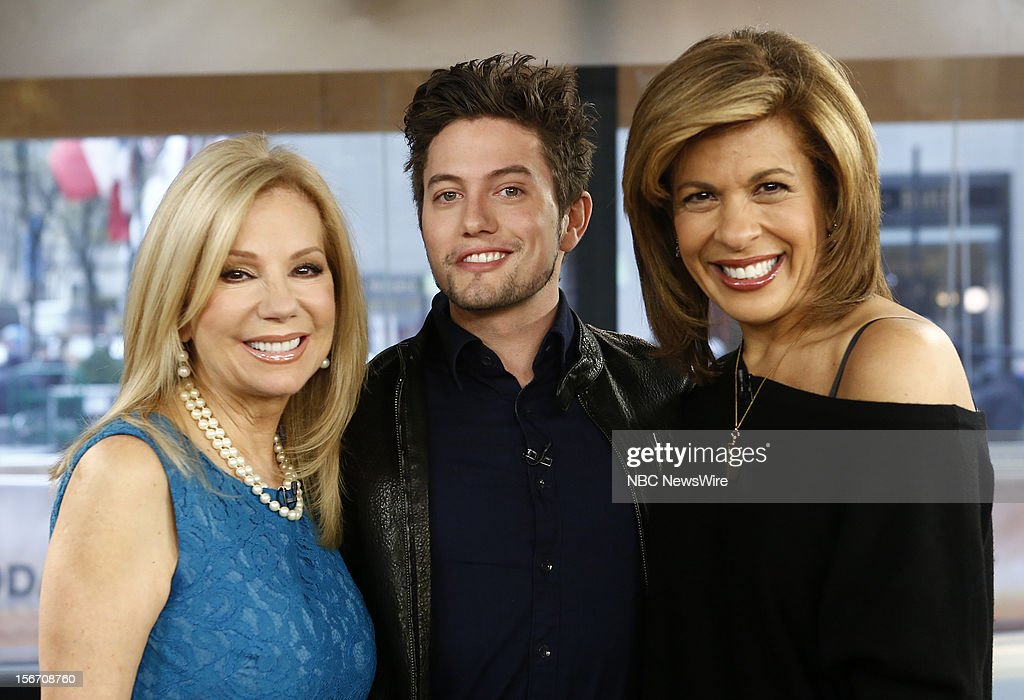 Kathie Lee Gifford, Jackson Rathbone and Hoda Kotb appear on NBC News' 'Today' show --