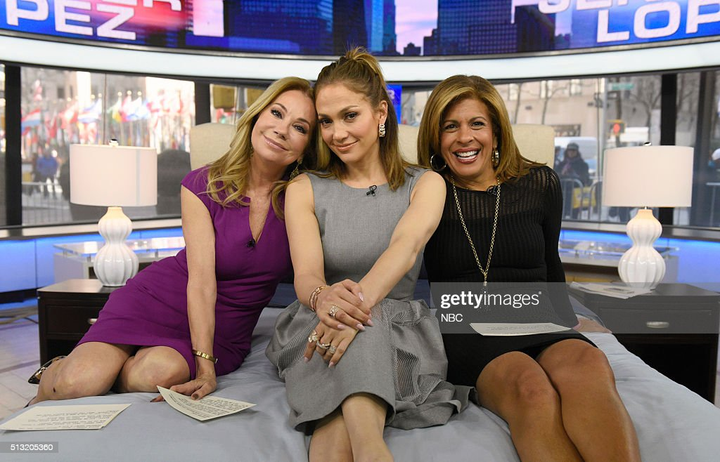Kathie Lee Gifford, Jennifer Lopez, and Hoda Kotb appear on the 'Today' show on Tuesday, March 1, 2016 --