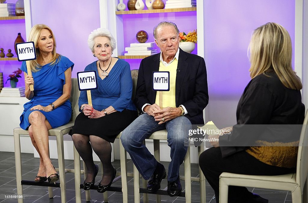 Kathie Lee Gifford, Joan Epstein, Frank Gifford and Pepper Schwartz appear on NBC News' 'Today' show -- Photo by: Peter Kramer/NBC/NBC NewsWire