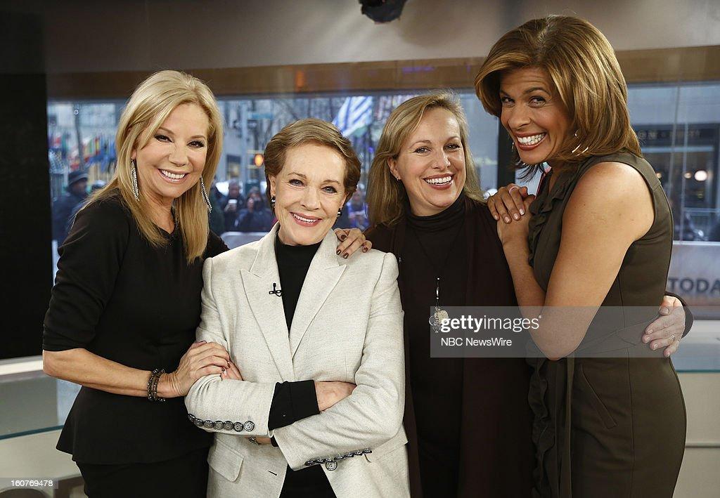 Kathie Lee Gifford, Julie Andrews, Emma Walton Hamilton and Hoda Kotb appear on NBC News' 'Today' show --